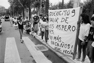 Manifestación de habitantes de los Asperones