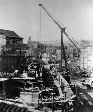 Construcción de Calle Larios